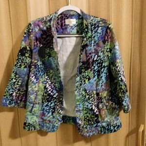 80's inspired multi-colored Erin London jacket